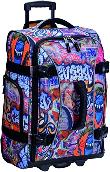 Amazon Com Athalon Luggage 21 Inch Hybrid Travelers Bag Graffiti One Size Carry Ons