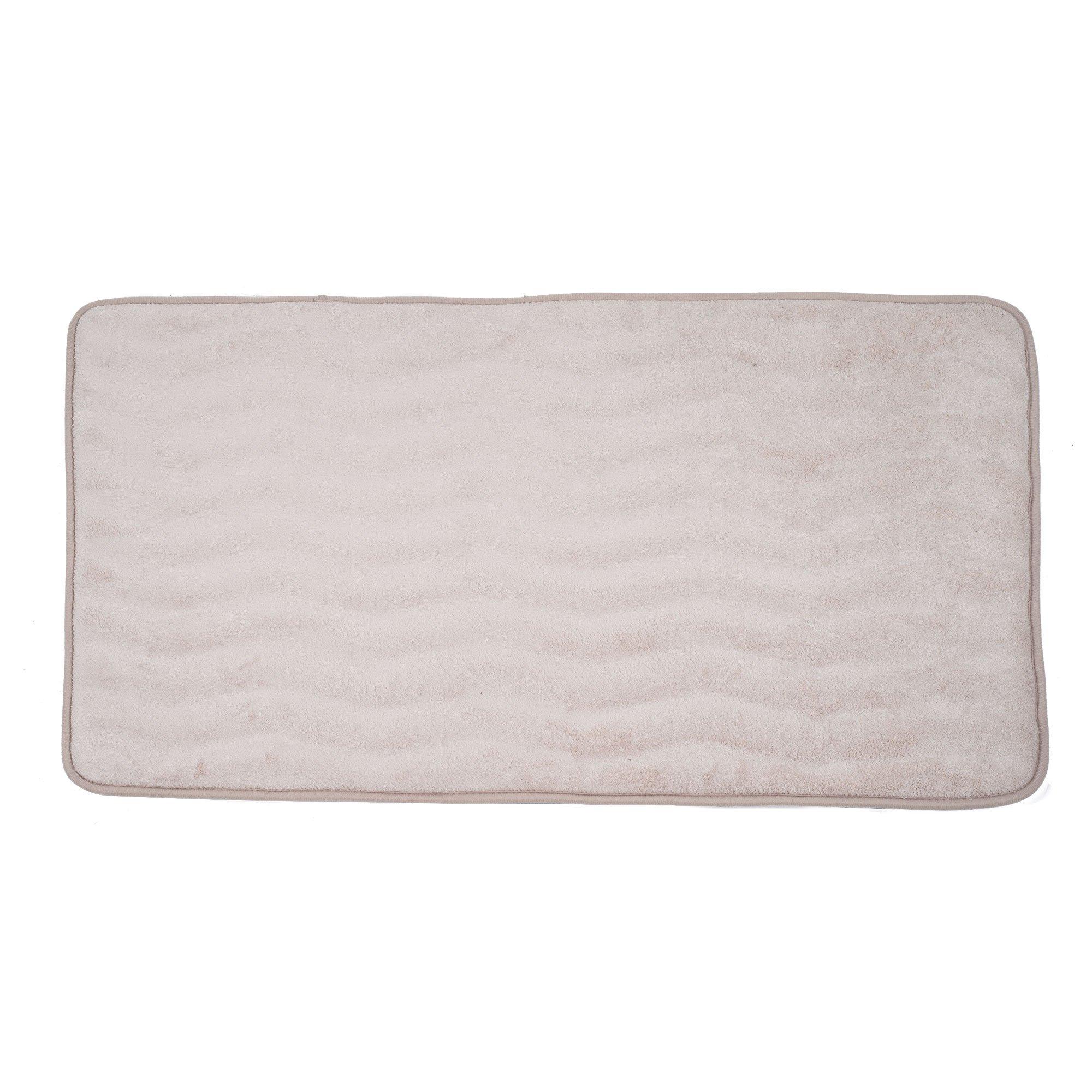 Lavish Home Memory Foam 24 by 60-Inch Bath Mat, Ivory, X-Long