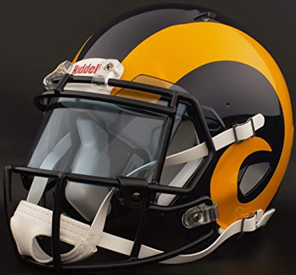 0615ae775 Image Unavailable. Image not available for. Color  Riddell Custom Los  Angeles RAMS Full Size NFL Speed Football Helmet