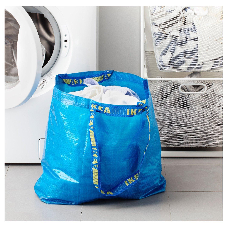 Amazon 4 Ikea Frakta Shopping Bags 10 Gal Blue Tote Multi