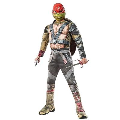 Rubie's Costume Kids Teenage Mutant Ninja Turtles 2 Deluxe Raphael Costume, Small: Clothing