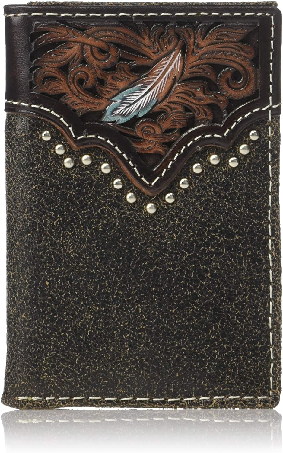 Ariat Mens Rodeo Rawhide Wrap Accent Wallet