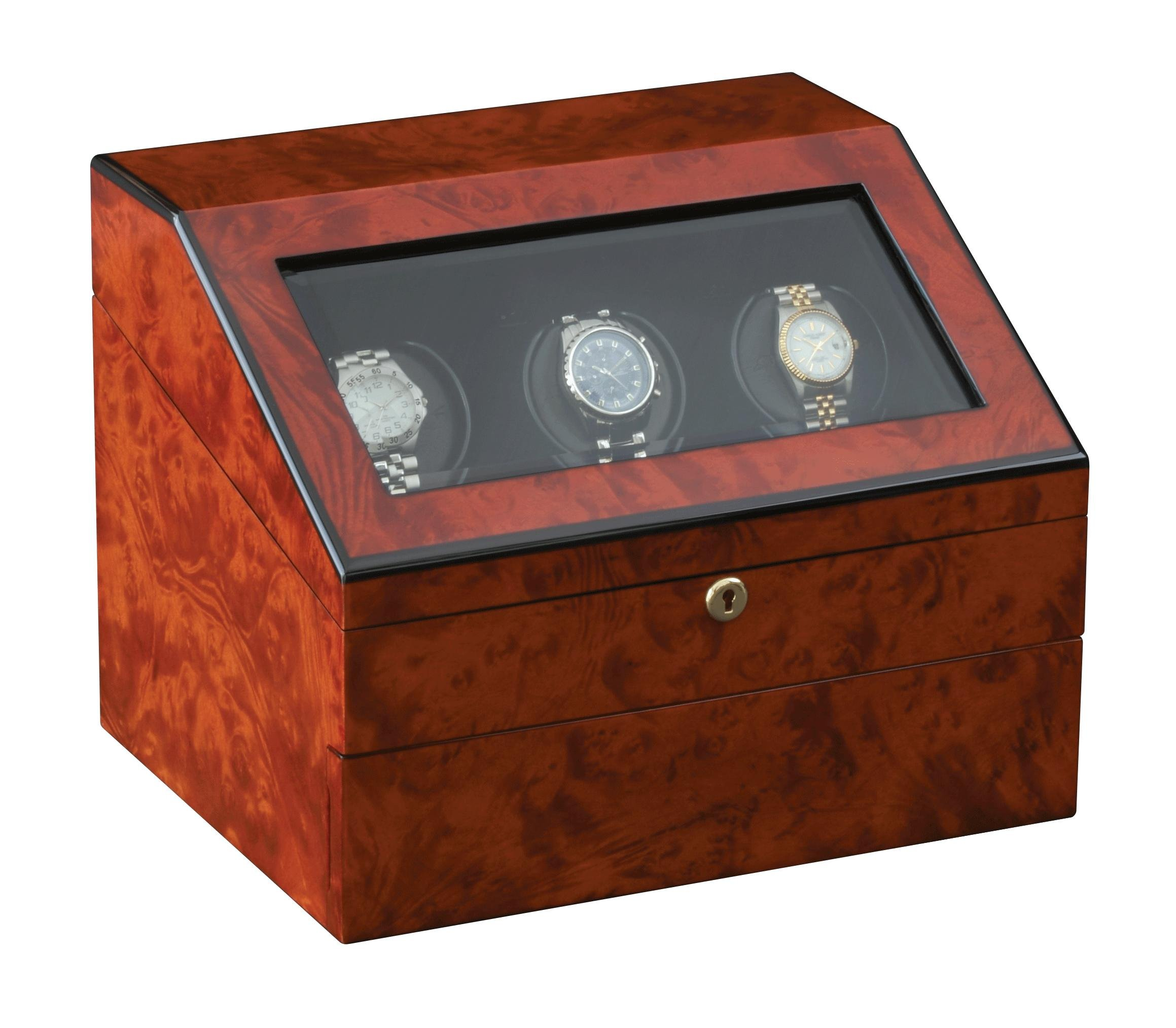 Orbita Siena 3 Executive Programmable Watch Winder, Teak by Orbita