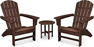 product image for Trex Outdoor Furniture Yacht Club 3-Piece Adirondack Chair Set with Side Table