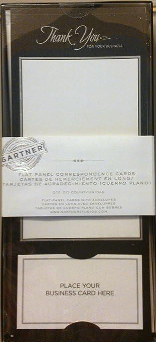 Amazon Com Gartner Thank You Flat Panel Correspondence Cards With