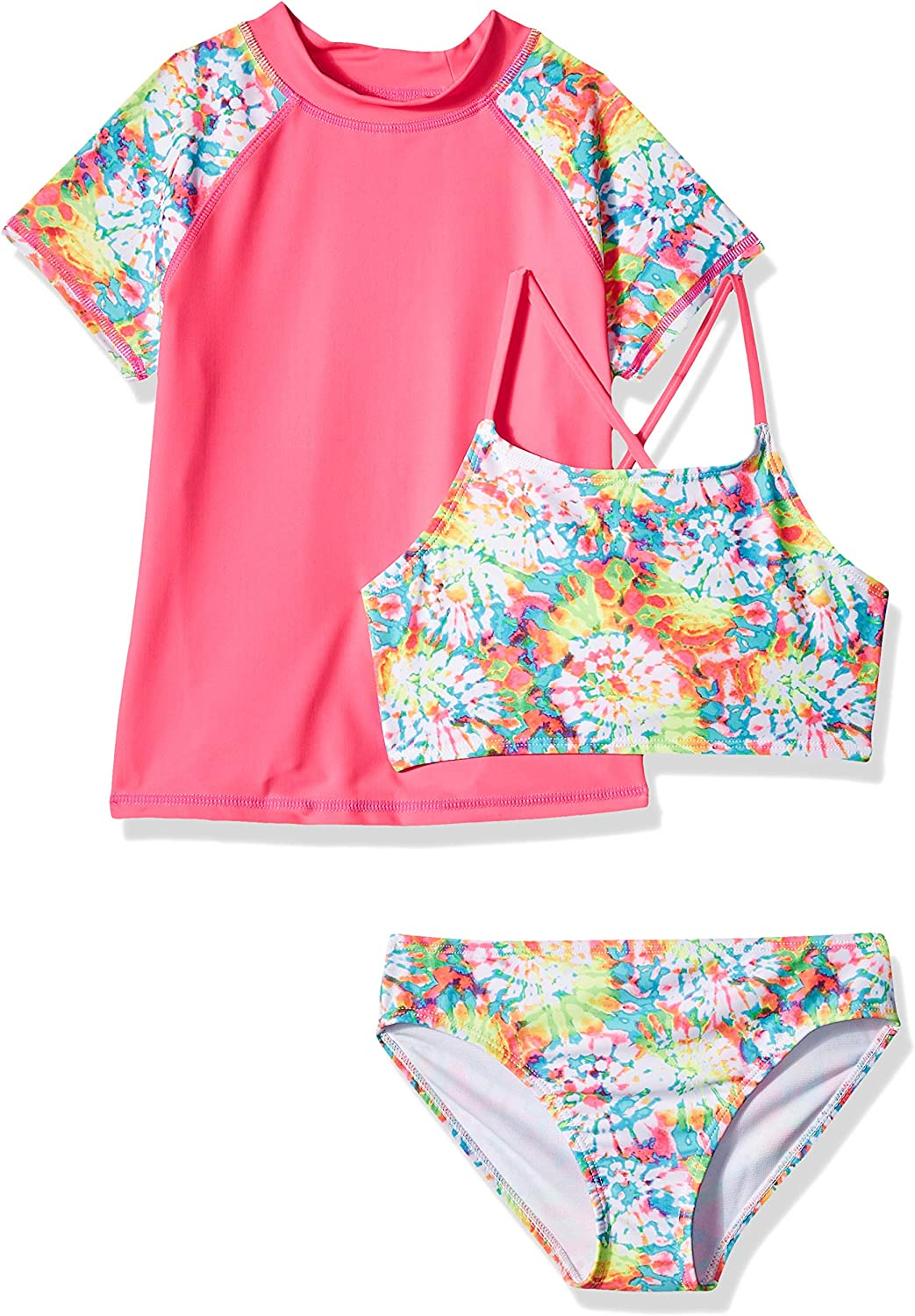 Rivstar Big Girls Bikini with Rash Shirt Cover Up 2pc