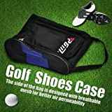 Dioche Golf Shoes Bag, Portable Zipped Sports Shoes Carry Bag Case Travel Shoes Storage Pouch