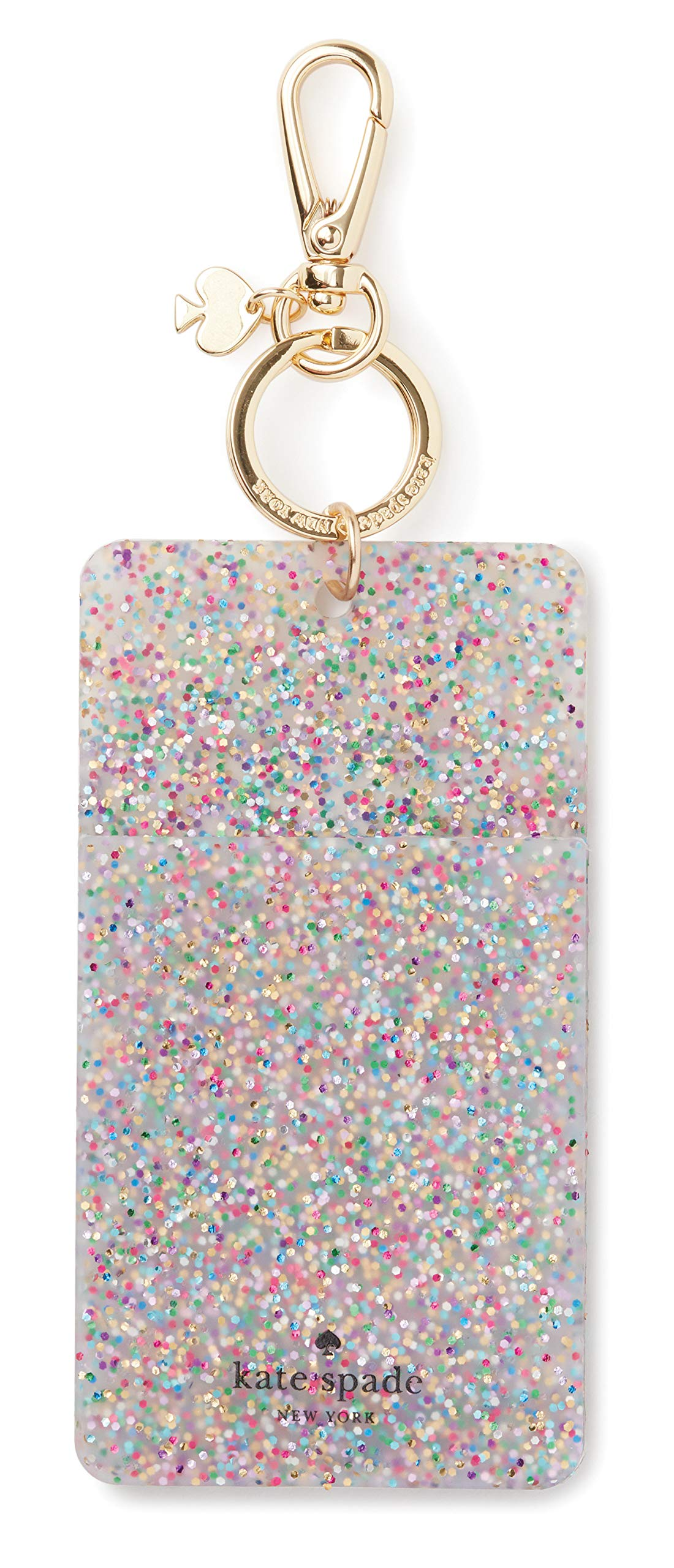 Kate Spade New York Id Badge Clip Key Chain, Multi Glitter by Kate Spade New York