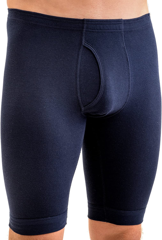 HERMKO 3995 Calzoncillos Largos, 100% algodón, Farbe:Azul Marino ...