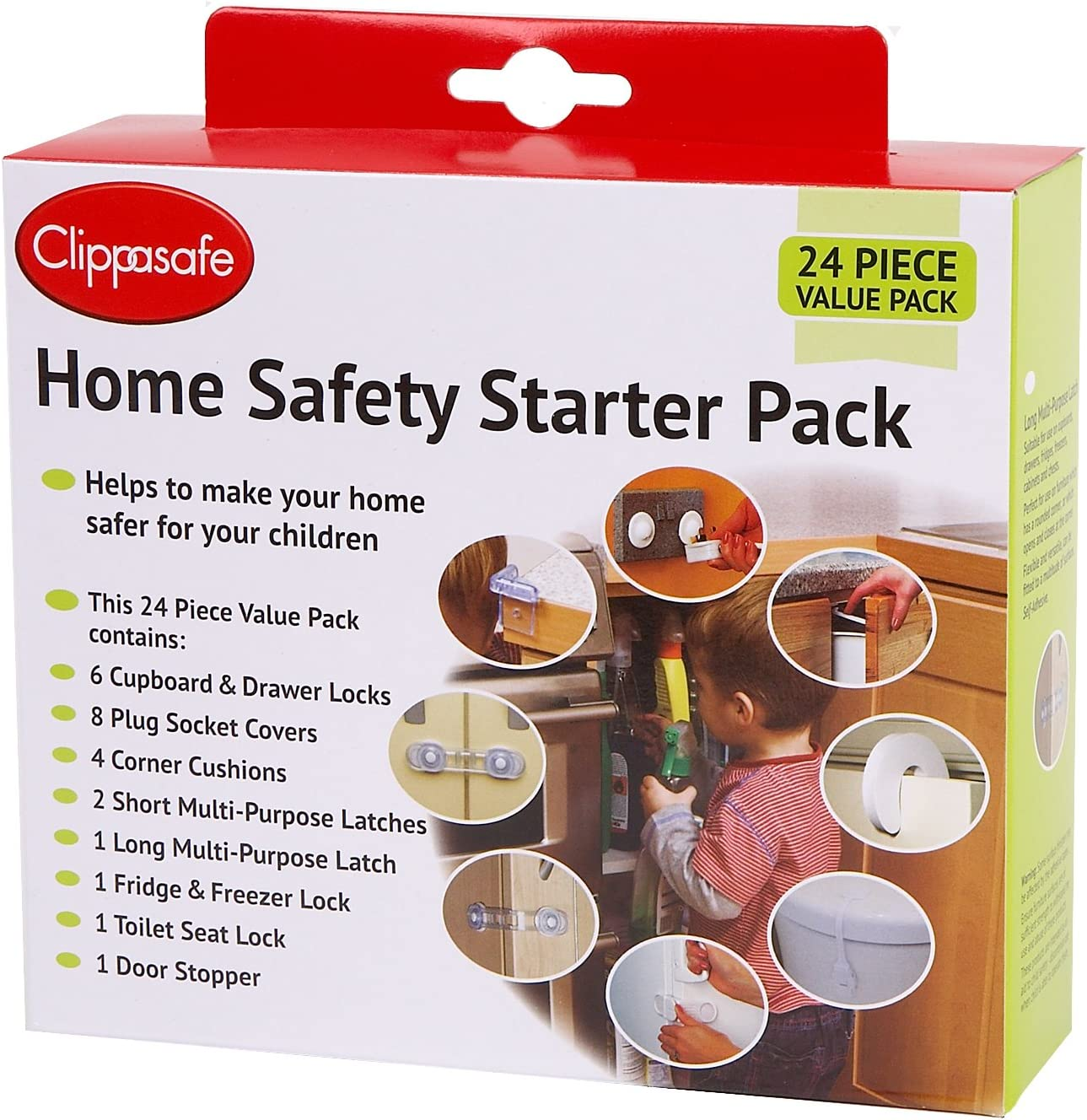CLIPPASAFE 30 PIECE GIFT BOX HOME SAFETY STARTER PACK