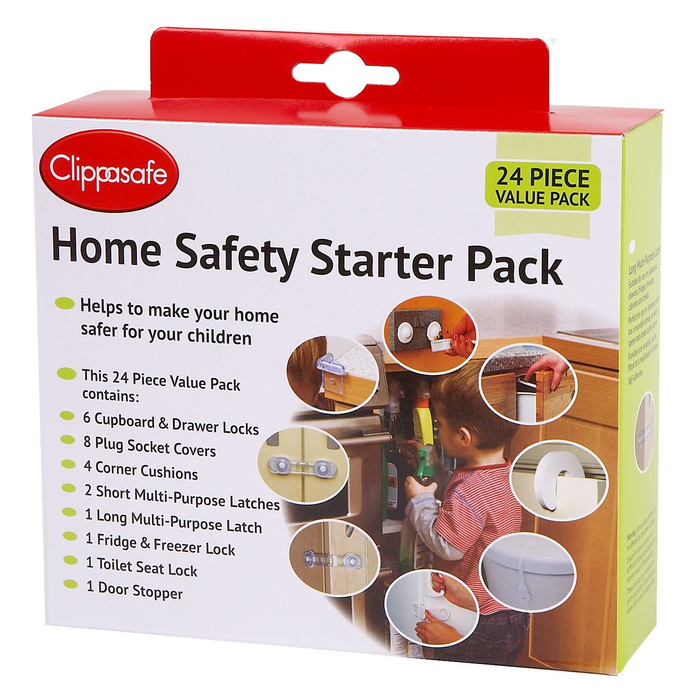 Clippasafe Home Safety Starter Pack (24 Pieces) CL900