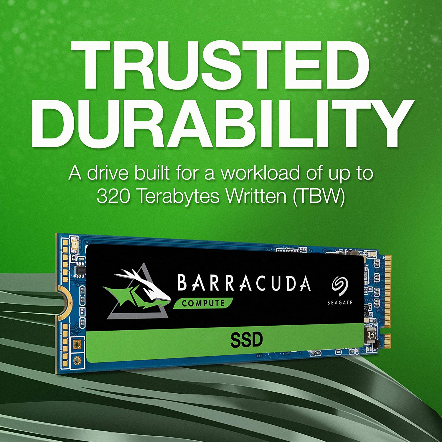 Up to 3400MB//s, 3D TLC NAND, PCIe Gen3 /×4, NVMe 1.3 Solid State Drive Seagate 512GB BarraCuda 510 SSD