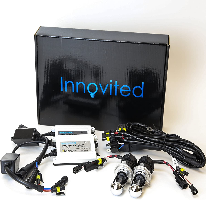 H4-3 9003-8000K Bi xenon HI//LO Ice Blue 2 Year Warranty Innovited Premium AC Canbus Error Free HID Lights No Flicker