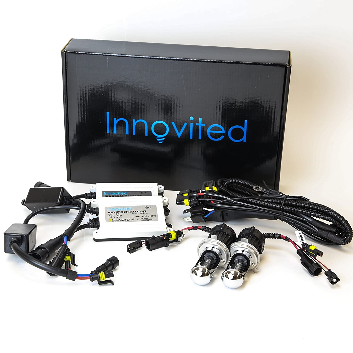 Amazon.com: Innovited AC 55W BI-XENON HI/LOW DUAL BEAM HID Kit - H4 9003  6000K - 2 Year Warranty: Automotive