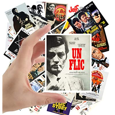 "Large Stickers (24 pcs 2.5""x3.5"") ALAIN DELON Vintage Movie Posters: Everything Else"