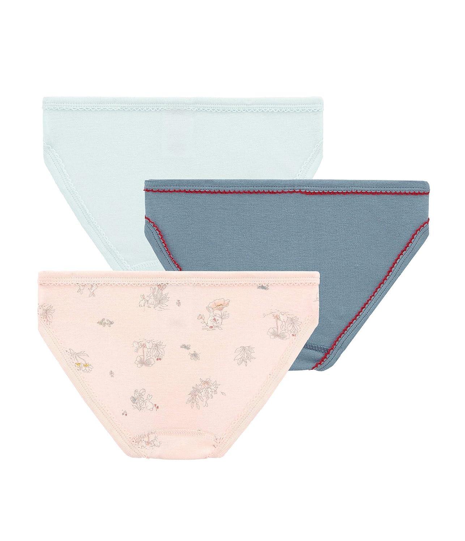 Petit Bateau M/ädchen Unterhose 3er Pack