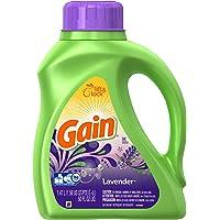 Gain Detergente Liquido, Aroma Lavanda, 1.47 L, 32 Cargas