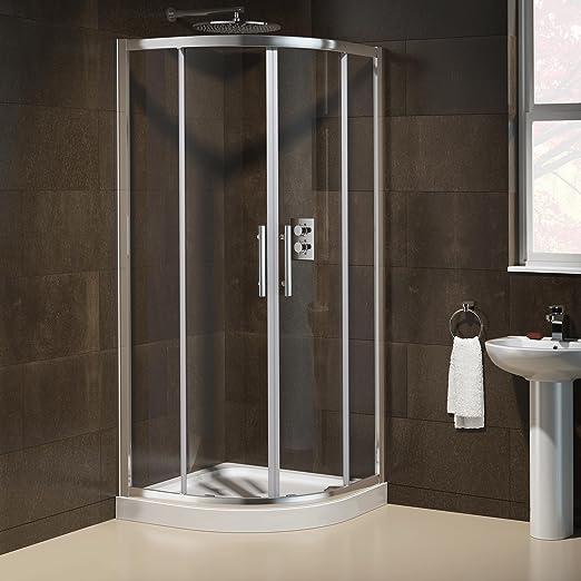 900 x 760 mm derecha fácil limpiar mampara ducha + bandeja de ...