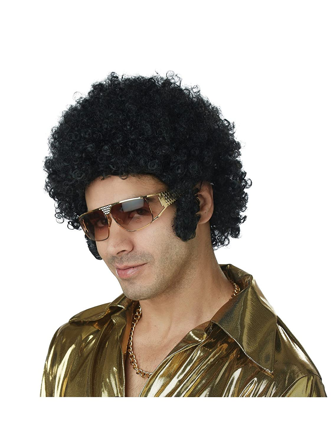 70s Costumes: Disco Costumes, Hippie Outfits California Costumes Mens Afro Chops Wig $9.99 AT vintagedancer.com