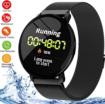 Amazon.com: Smart Watch Fitness Tracker impermeable deportes ...
