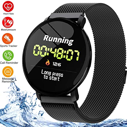 Smart Watch Fitness Tracker Waterproof Sports Smartwatch Heart Rate Monitor Blood Pressure Sleep Monitor Step Counter Pedometer Activity Tracker for ...