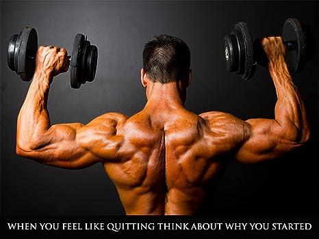 Amazon.com: Póster de entrenamiento fitness Cartel Póster de ...