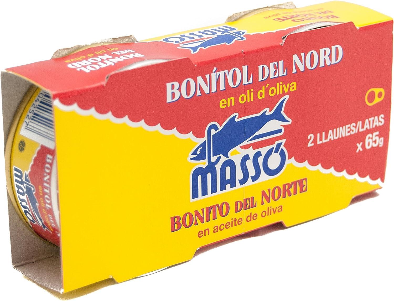 Masso - Bonito Aceite Oliva, Pack de 2 x 65gr