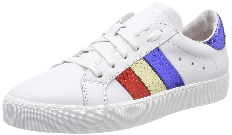Stokton Sneaker, Zapatillas para Mujer 39 EU|Multicolor (White/Red/Gold/Blu)