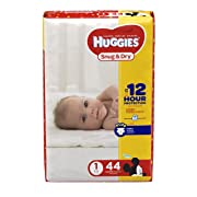 HUGGIES Snug & Dry Diapers, Size 1, 44 Count, JUMBO PACK (Packaging May Vary)
