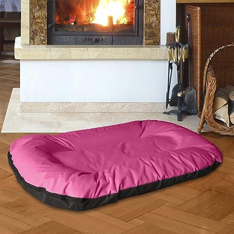 BedDog MASTI 2en1 rosa/negro XXXL aprox. 120x105cm colchón para perro, 8 colores