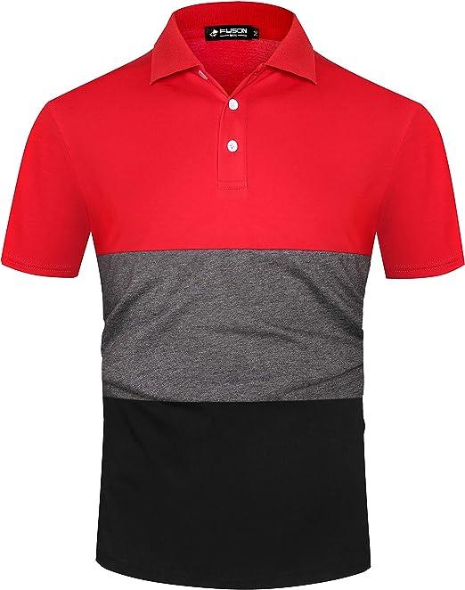 Mens Polo Shirt Classic Plain Short Sleeve T Shirt Summer Casual Sports Leisure