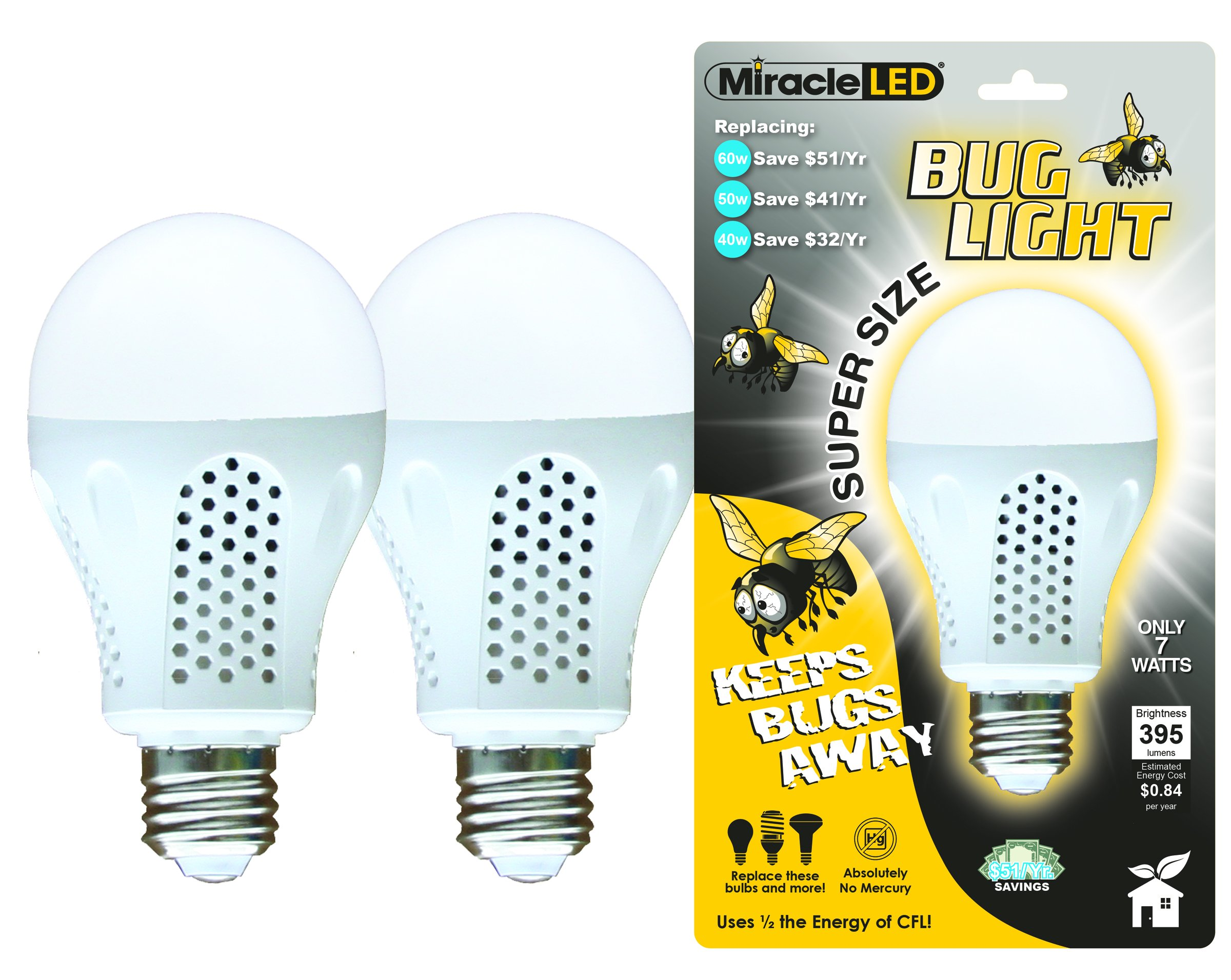 MiracleLED 604004 Super Bug Light, Yellow