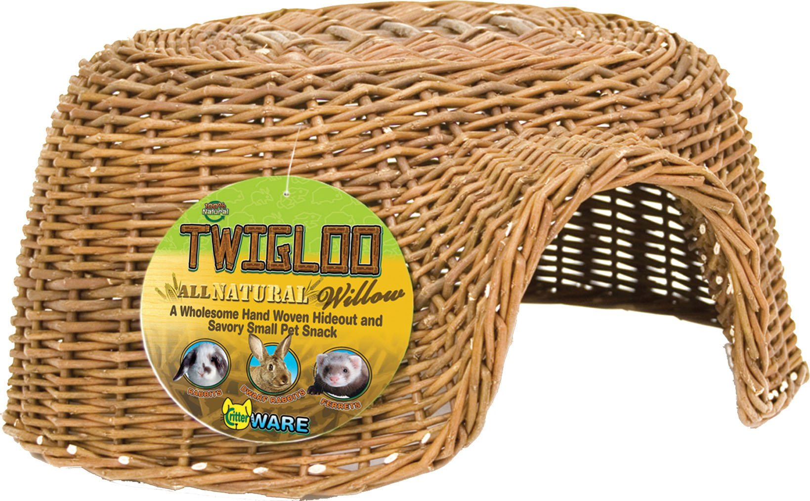 Ware Manufacturing Hand Woven Willow Twigloo Small Pet Hideout, Large by Ware Manufacturing