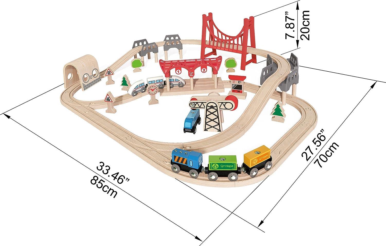 Hape Wooden Railway Double Loop Railway Set E3712