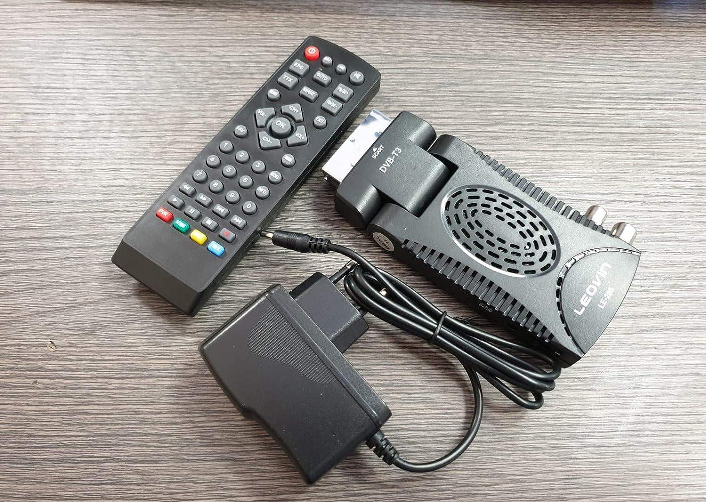 VIDOELETTRONICA® Decodificador Digital terrestre HD Mini Dvb T3 h265 USB HDMI Toma Scart 180° Televisión Receptor, Negro Youtube WiFi: Amazon.es: Electrónica
