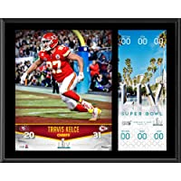 $39 » Travis Kelce Kansas City Chiefs 12'' x 15'' Super Bowl LIV Champions Sublimated Plaque with Replica Ticket