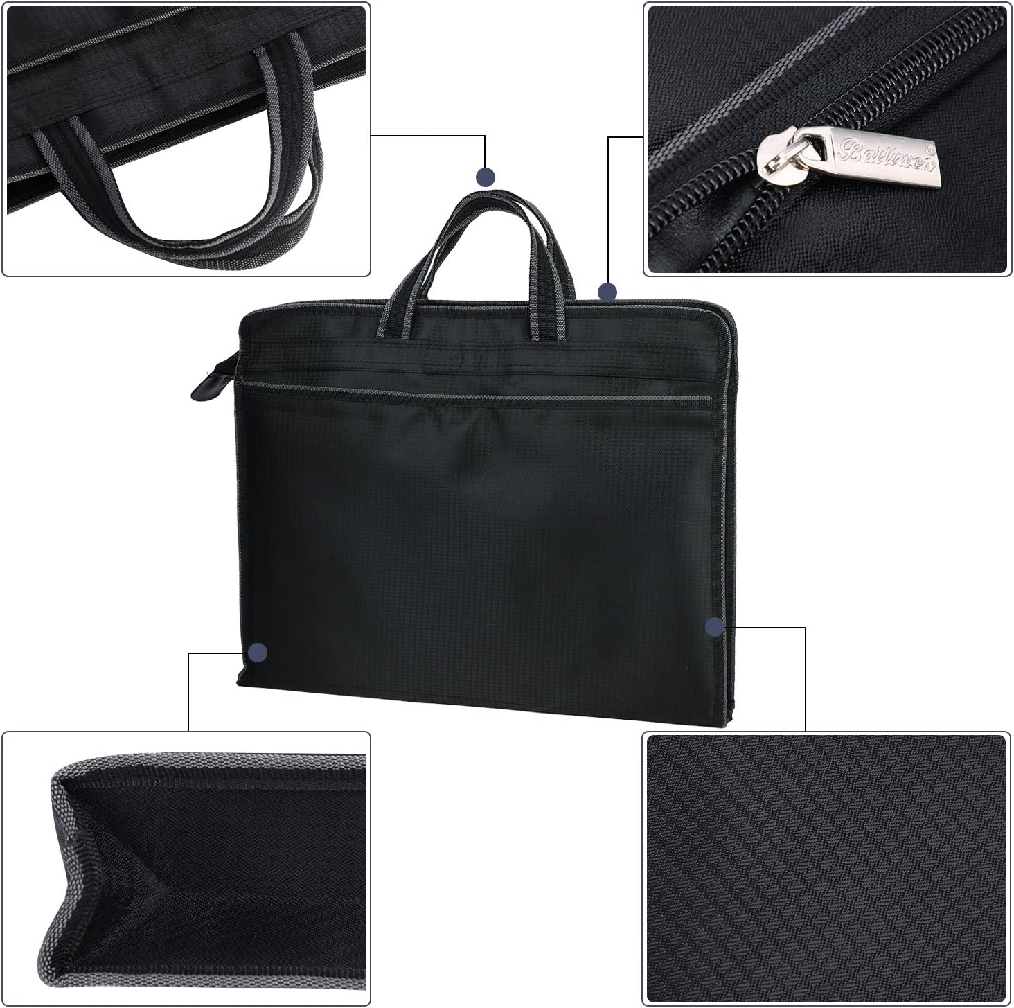Laptop Case Men Women Oxford Fabric 15.3 inch Laptop Case Business Trip B4 A4 Files Holder Briefcase Messenger Bag for College Students Office Workers Professional Computer Notebook Bag