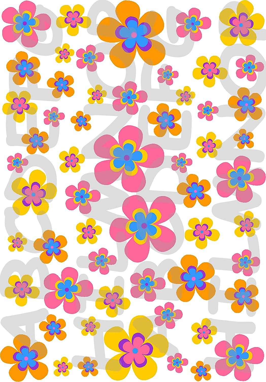 AWS Lote Stickers Flores Flor Flowers impermeables para bicicleta bici coche moto pegatinas vinilo Flowers Flores Peque/ños Little Flowers For Bike
