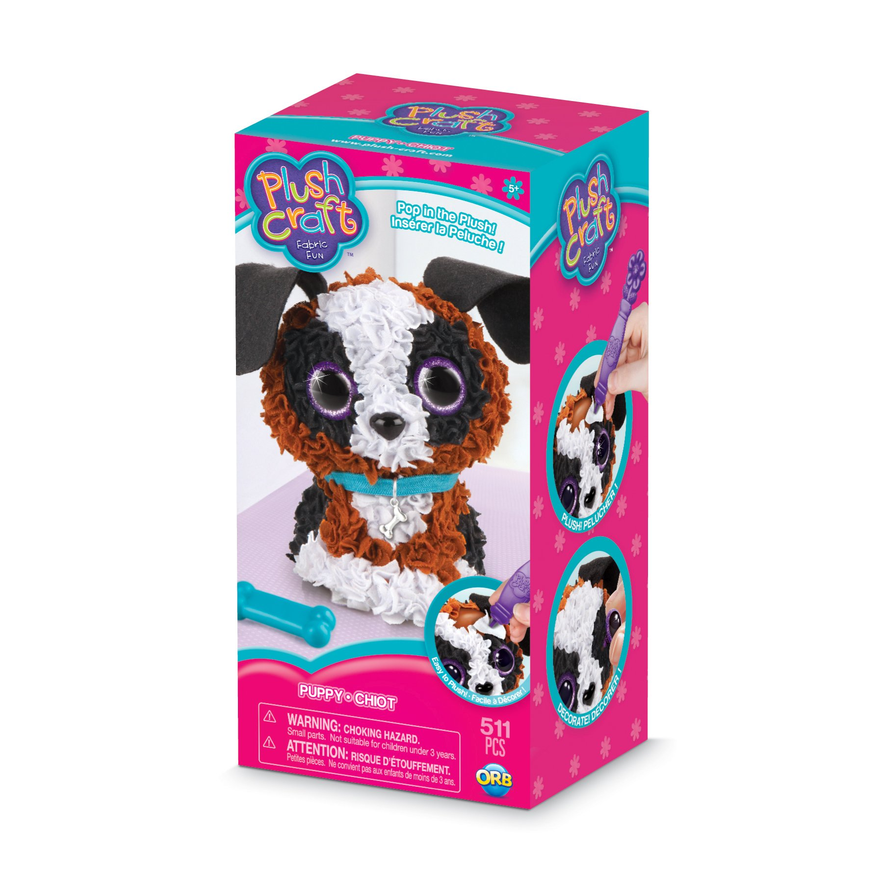 The Orb Factory PlushCraft Puppy 3D Kit