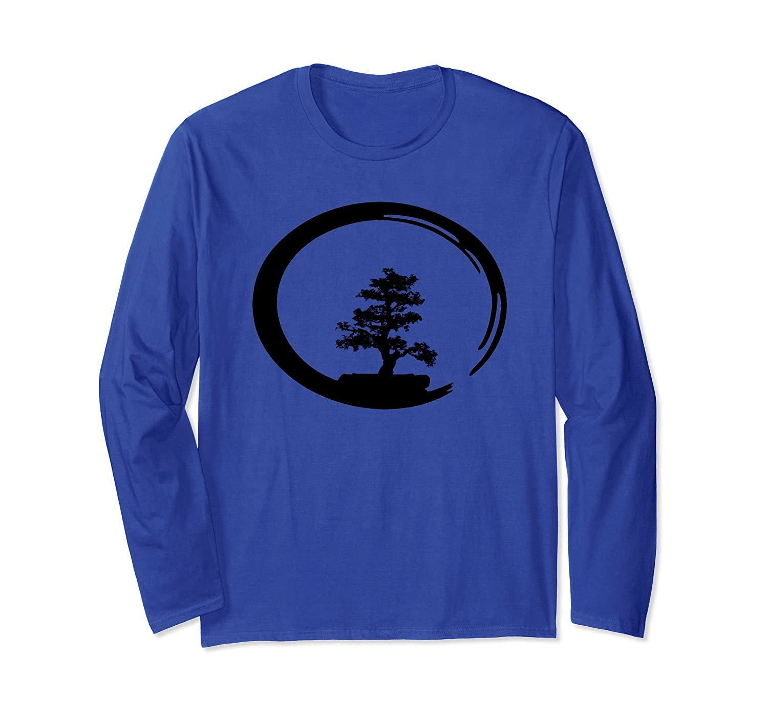 Yoga Bonsai Meditation Long Sleeve Tshirt-ah my shirt one gift