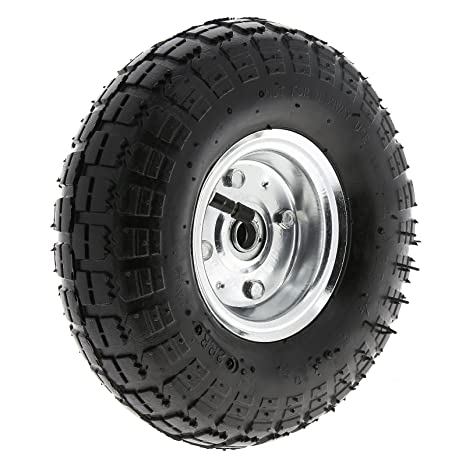 Luftrad Rad 260 mm 3.50-4 Kugellager Nr.4 Sackkarrenrad  Metallfelge Neu