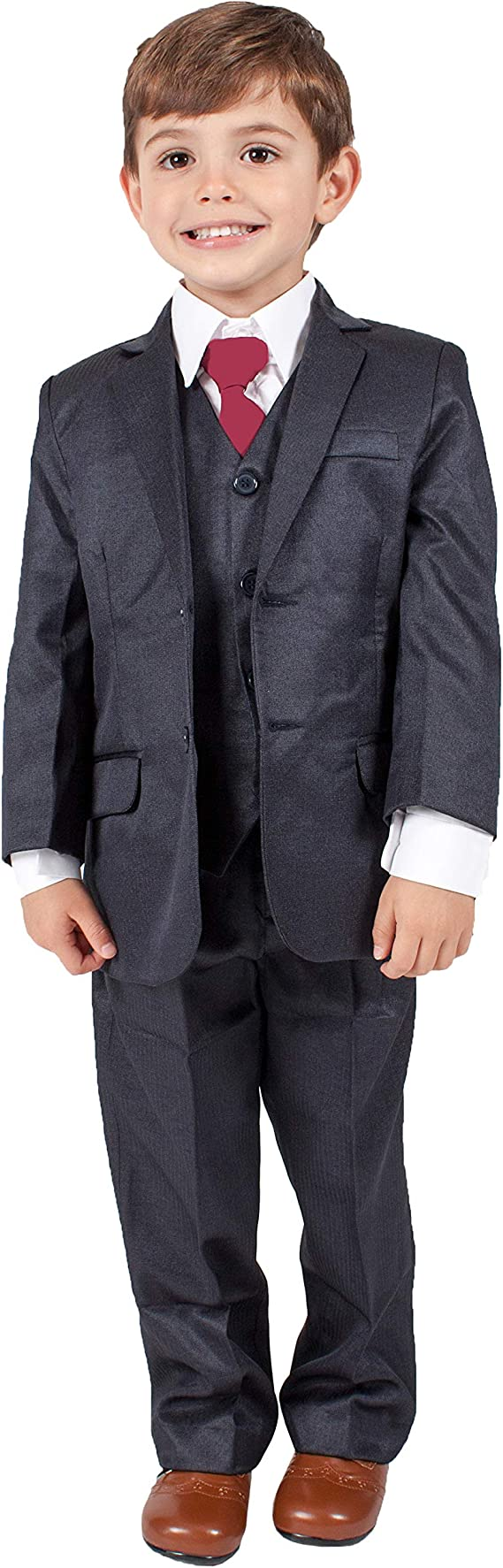 Traje formal azul marino para niños de 5 piezas, ideal para bodas ...