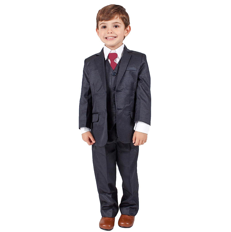 Tuta da bambino tuta ragazzi navy 5pezzi per festa di nozze formale outfit paggetto (0–3m–14YRS)
