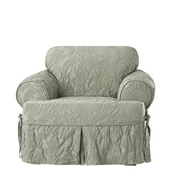Amazon Com Sure Fit Matelasse Damask One Piece T Cushion Chair