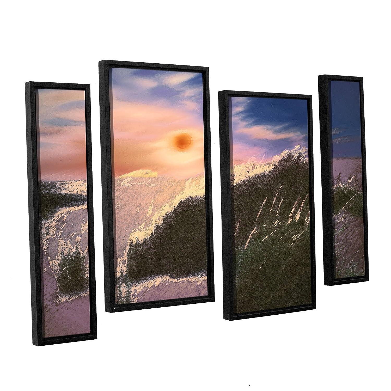 36 by 54 ArtWall Dean Uhlinger 4 Piece Windswept Floater Framed Canvas Staggered Set