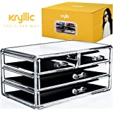 Acrylic Makeup jewelry cosmetic organizer - Set of 4 Multi Size Extra Deep Drawers That Maneuver Smoothly Great For Storing All Your Makeup Esstianls Made With the Highest quality Strong Thick Acrylic