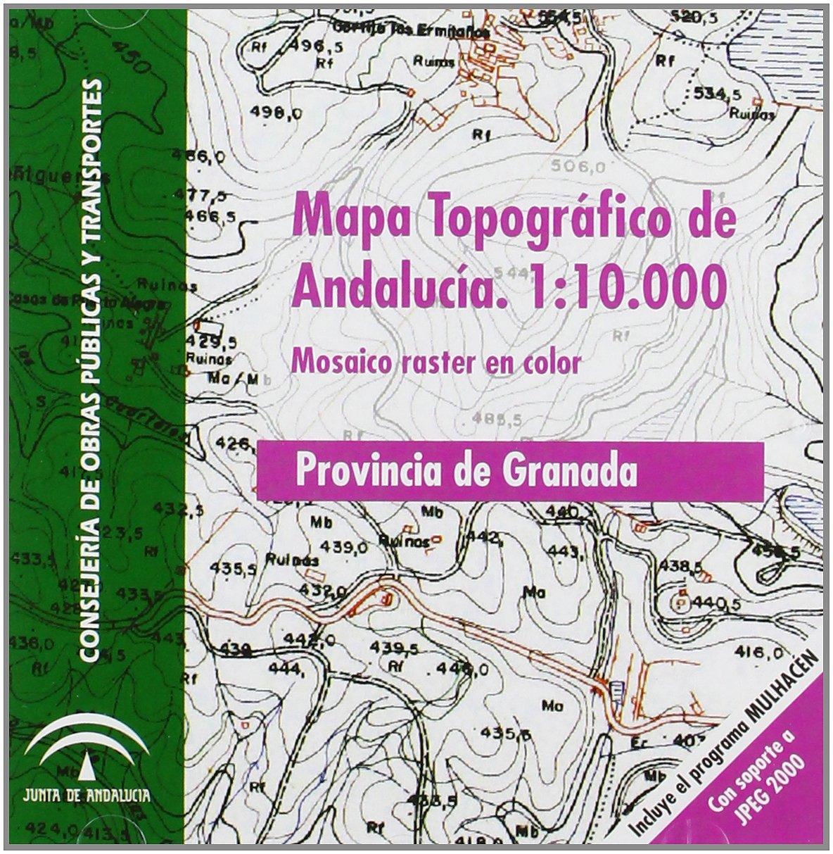 Mapa topográfico de Andalucía, E 1:10.000. Mosaico Raster ...