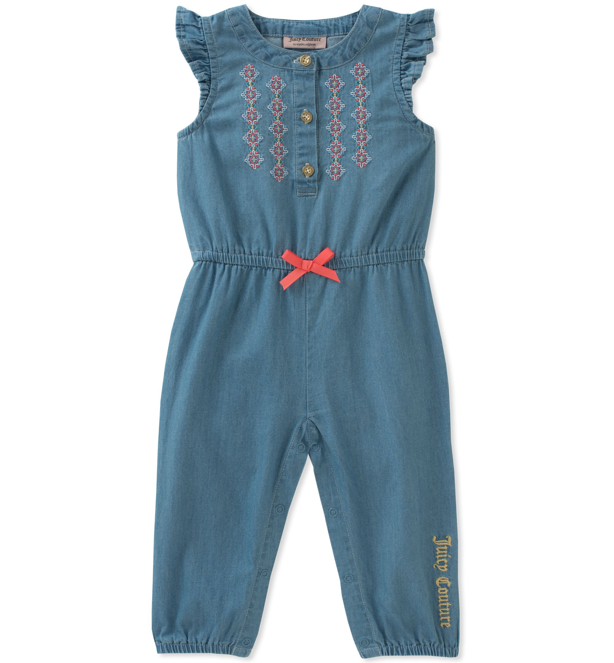 Juicy Couture Baby Girls Jumpsuit, Blue, 18M
