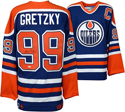 first rate bf7ad 80d19 Wayne Gretzky Edmonton Oilers Autographed Blue CCM Jersey ...