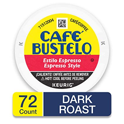 Café Bustelo Espresso Coffee Pod Capsules for Espresso Machines, 72 Count